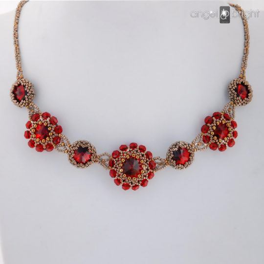 Ruby Necklace – Swarovski – Silver
