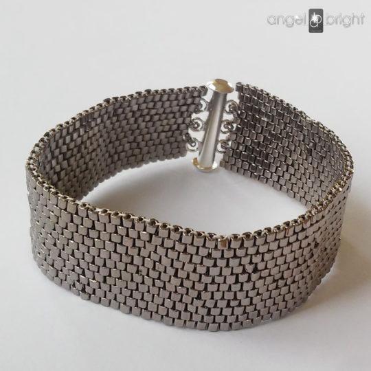 Bransoletka Srebrny Pasek HIT- zapięcie na magnes