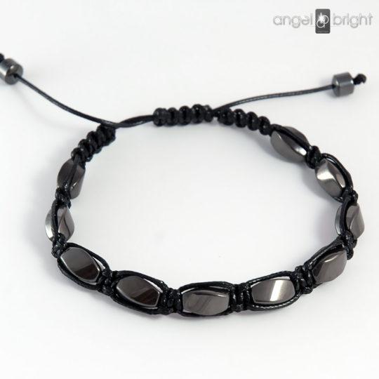 Men's Shamballa Bracelet - Hematite Stone