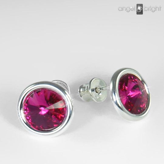 Earrings - Swarovski Studs - Pink - Sterling Silver