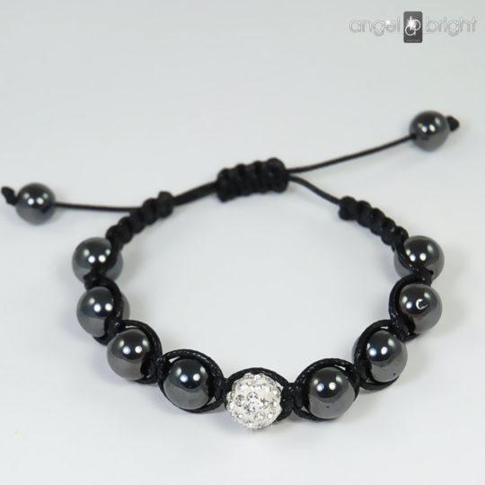 Bracelet SHAMBALLA Hematite Stone Zircon