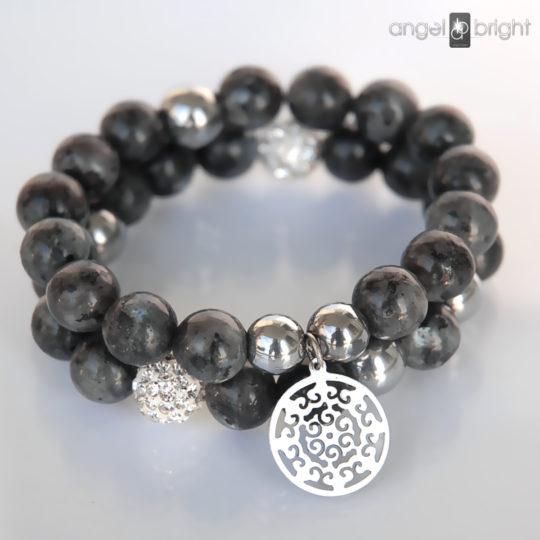 Labradorite Bracelets - Silver Charms