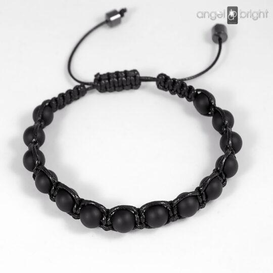 Men's Shamballa Bracelet  - Matte Onyx