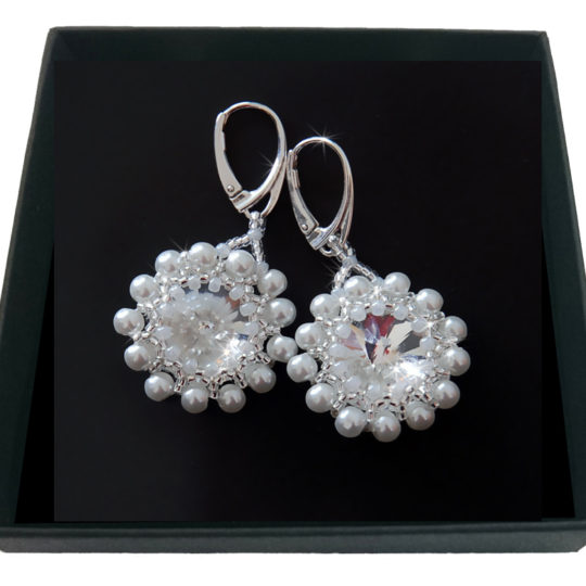 Earrings Swarovski Pearls – Silver
