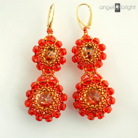 Pendientes 'Orange' - Swarovski Dorado