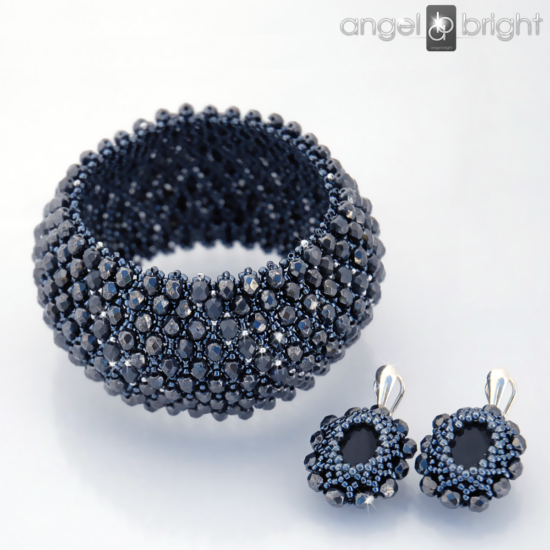 "Bracelet ""Marilyn"" SEDNA and Earrings"