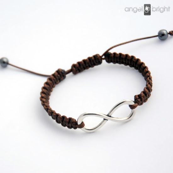 Brown Infinity Bracelet