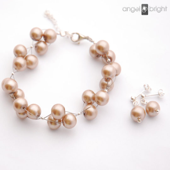 A set of Cappuccino Pearls - Silver