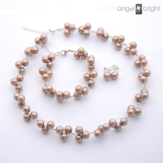 A set of Cappuccino Pearls – Silver