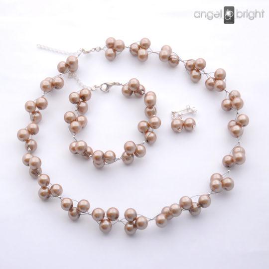 Conjunto Perlas - Plateado