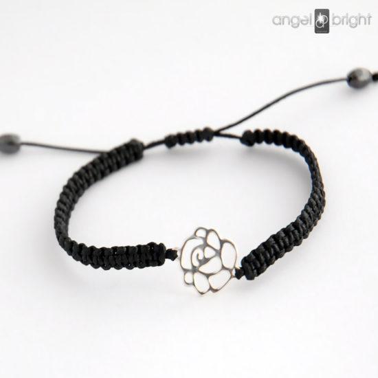 Pulsera de Plata la Flor Negra