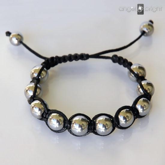 Bracelet SHAMBALLA Silver Hematite Stone