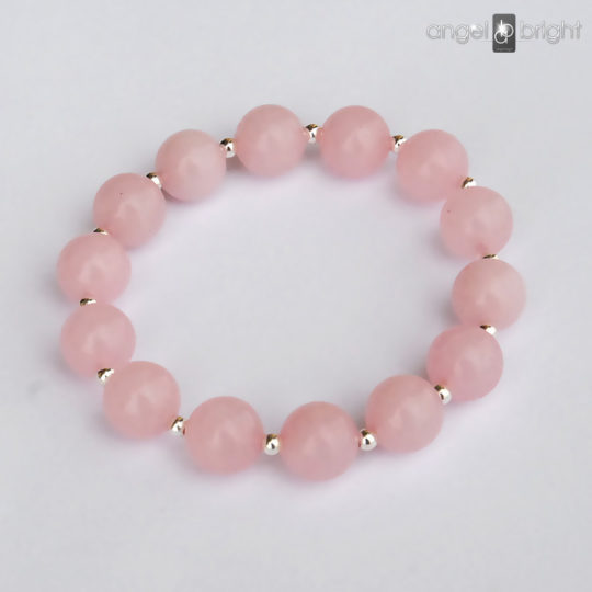 Bracelet Rose Quartz - Silver