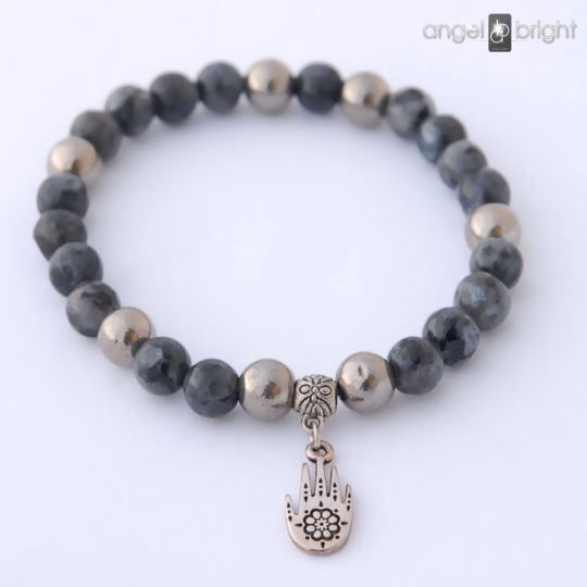 Bracelet FATIMA - Black Labradorite