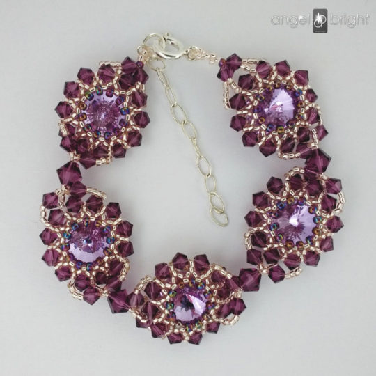 Pulsera 'Resplandor de Púrpura' - Swarovski