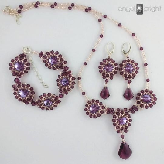 Conjunto 'Resplandor de Púrpura'- Swarovski