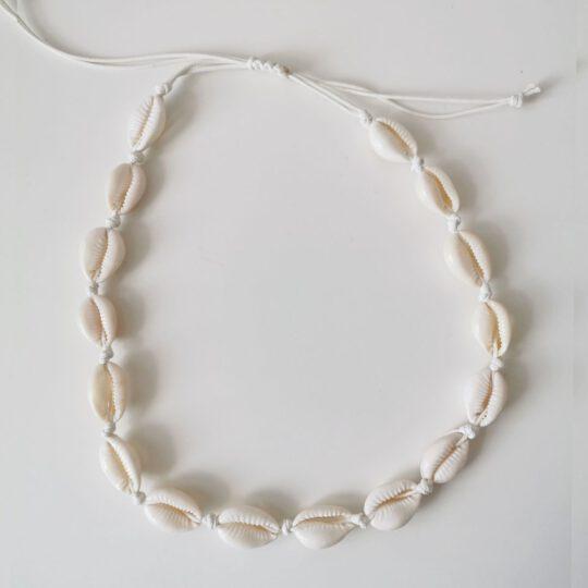 Naszyjnik- MUSZELKI - biały