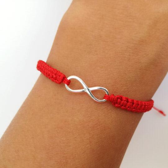 Armband mit Herzanhänger — Schwarz/Silbern (Kopia)