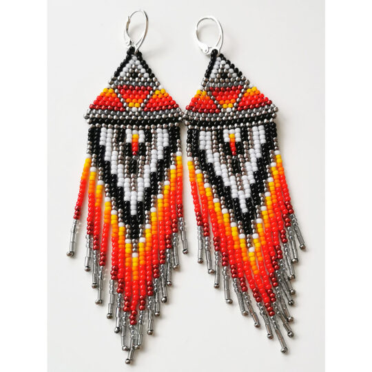 BOHO earrings in flaming colors