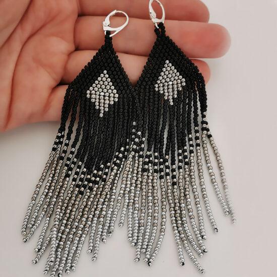 BOHO earrings gold black pane (Kopia)