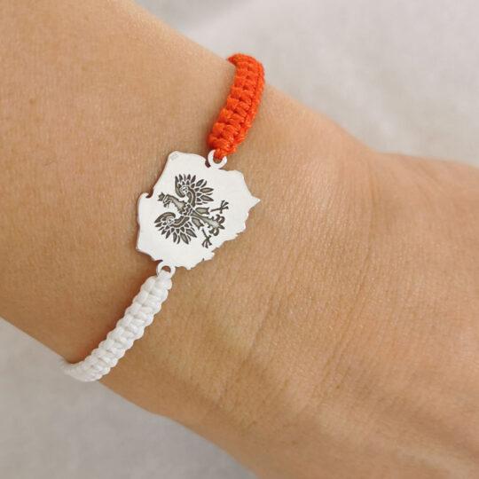 Armband mit Herzanhänger — Schwarz/Silbern (Kopia) (Kopia)